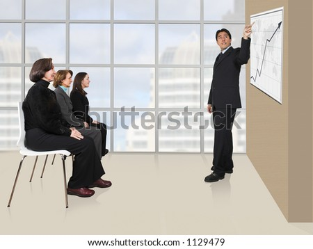 Business presentation in an office 5