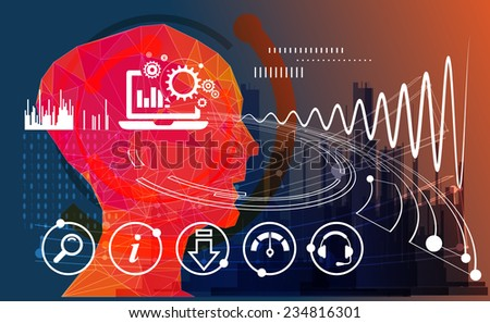 Business Process Concept - stock photo