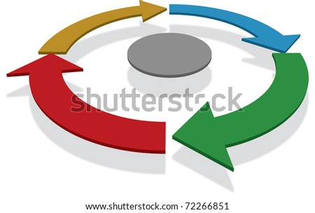 Business process diagram - stock photo
