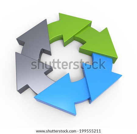 Business process diagram as a concept - stock photo