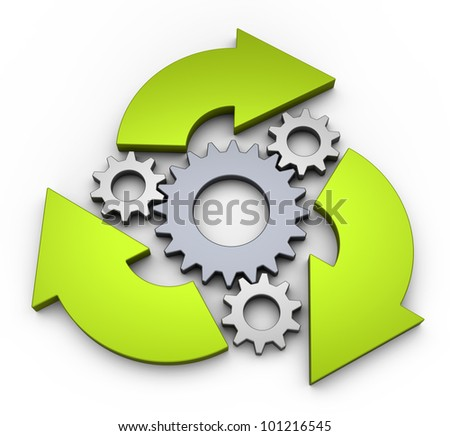 Business process diagrams - stock photo
