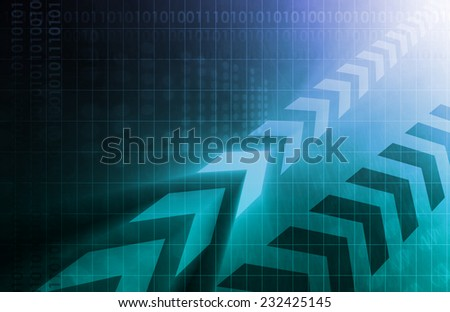 Business Process Improvement as a Art Abstract - stock photo