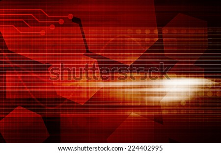 Business Process Management as a Art Abstract - stock photo