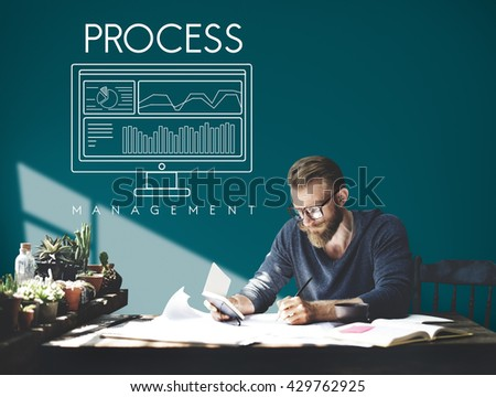 Business Process Strategy Methods Operation Concept - stock photo