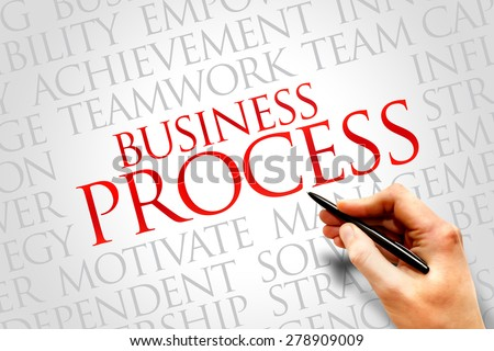 Business Process word cloud, business concept - stock photo