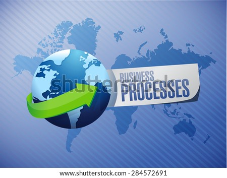 business processes international sign concept illustration design over blue