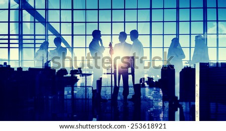 Business Professional Communication Office Cityscape Concept - stock photo