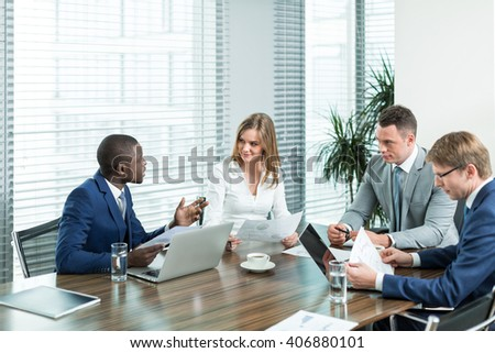 Business professional in office - stock photo
