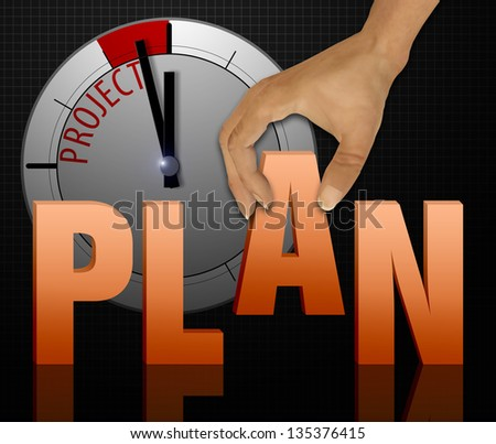 Business project concept - stock photo