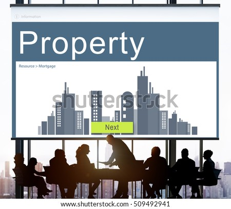 Business Property Mortgage Rent Concept