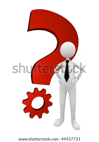 Business Question and Solution; great for question, solution and business concepts. - stock photo