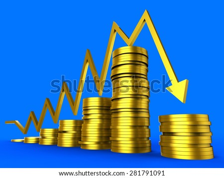 Business Recession Meaning Trade Graphic And Statistical - stock photo