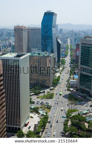 business region in Seoul - stock photo