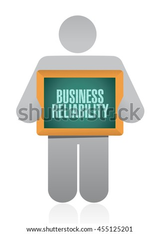 Business reliability avatar sign concept illustration design graphic