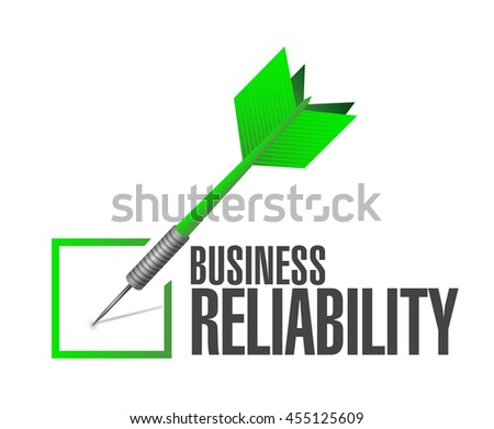 Business reliability check dart sign concept illustration design graphic - stock photo