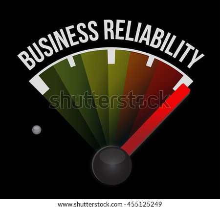 Business reliability meter concept illustration design graphic