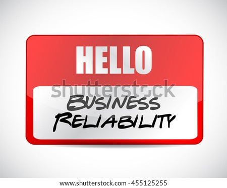Business reliability name tag sign concept illustration design graphic