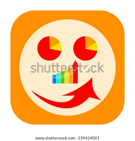 Business report icon - stock photo