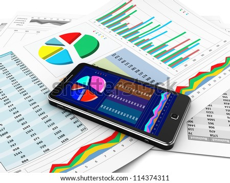 Business report in mobile phone, new technology