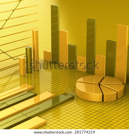 Business Report Meaning Trend Graphic And Graphics - stock photo