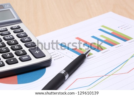 Business report,The workplace of business - stock photo