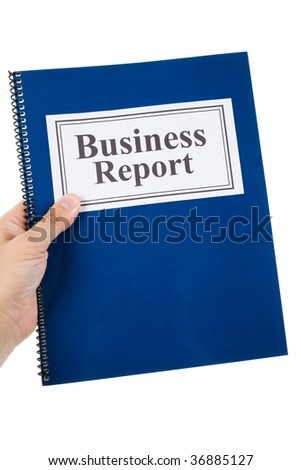 Business report with white background
