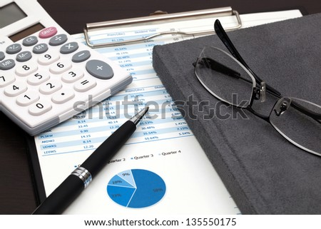 Business research report - stock photo