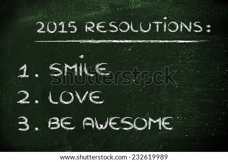 business resolutions and goals for the new year 2015