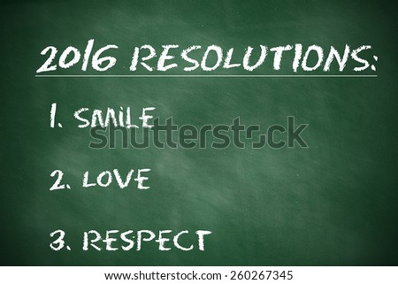Business Resolutions For 2016 - stock photo