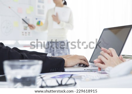 Business scene in the office - stock photo