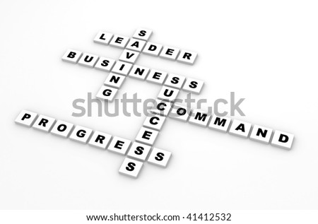 Business scrabble - stock photo