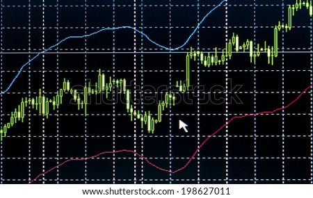Business screen stock exchange data graph background - stock photo