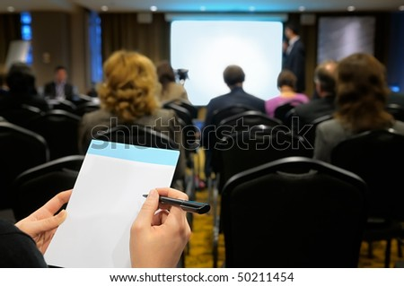 Business seminar. - stock photo