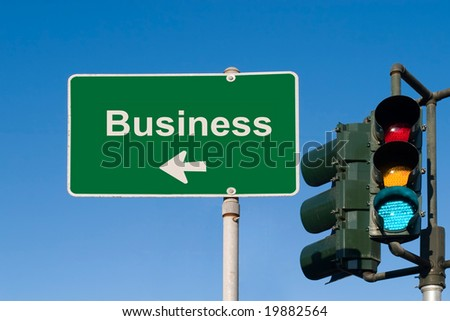 Business Sign - stock photo