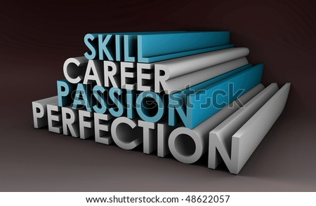 Business Skills For Passion and Career in 3d - stock photo
