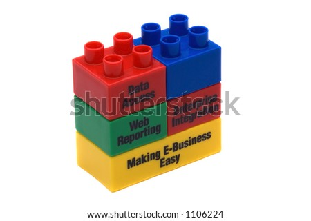 Business Slogans On Children's Building Blocks
