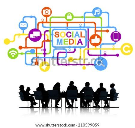Business Social Media - stock photo