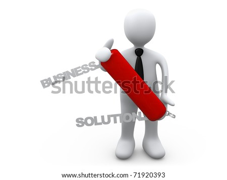 Business Solution - stock photo