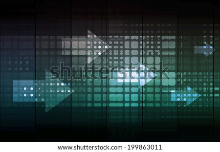 Business Solution and Leadership as a Concept Abstract - stock photo