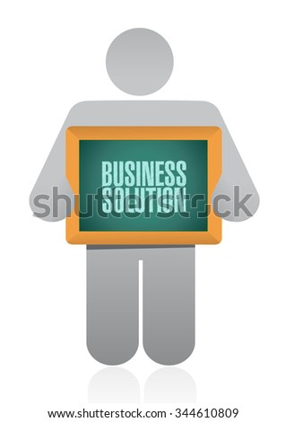 Business Solution board sign concept illustration design graphic