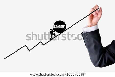 Business Start up problems - stock photo