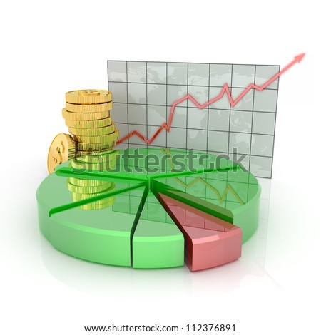 Business statistics of financial success - stock photo