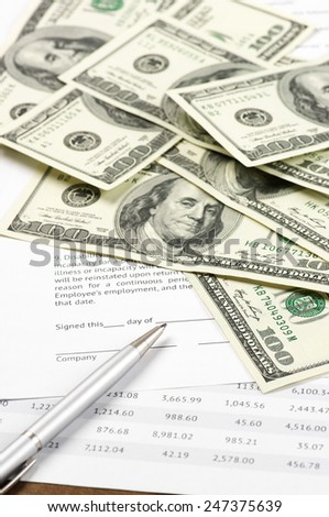 Business still life close-up. - stock photo