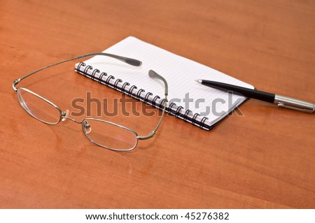 business still life with blank empty sheet paper for copyspace