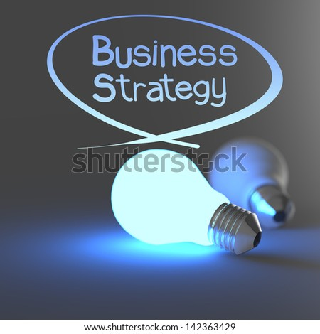 business strategy as concept - stock photo