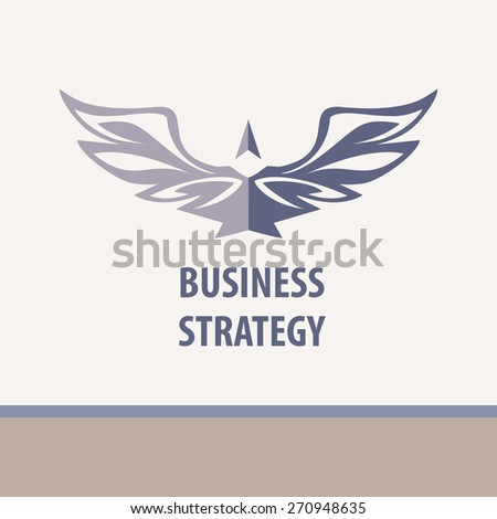 Business strategy,  illustration. Business Technology, innovation and education. Bird tending upwards. - stock photo