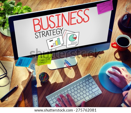 Business Strategy Marketing Planning Corporate Concept - stock photo