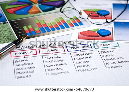 Business strategy organizational charts and graphs - stock photo
