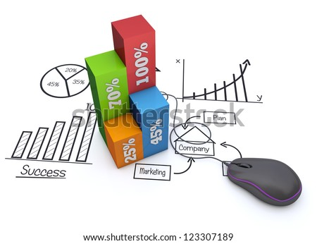 Business strategy plan - stock photo