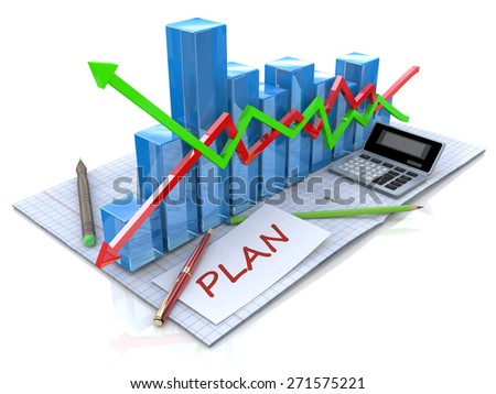 Business strategy planning as a concept - stock photo